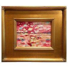 """Abstract Impasto of Color"", Original Oil Painting by artist Sarah Kadlic, 13x15"""