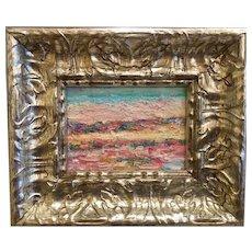 "Abstract Landscape Impasto"", Original Oil Painting by artist Sarah Kadlic."