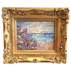 """Sunset Seascape"", Original Oil Painting by artist Sarah Kadlic"