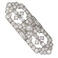 Stunning Impressive Tiffany & Co. Art Deco Platinum 950 6.40 cttw G/VS1 Diamond Brooch Pin & Pendant