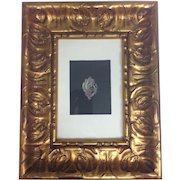 Original Drawing Gouache Painting of Studio Jewelry Designer to Tiffany, Van Cleef & Cartier Gilt Framed