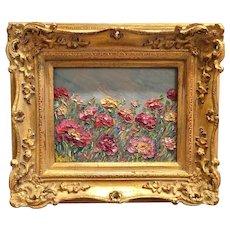 """Abstract Wildflower Garden II"", Original Oil Painting by artist Sarah Kadlic"