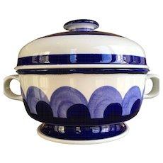 "Arabia Finland 12"" Blue Paju Vegetable Serving Bowl"