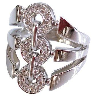 Bulgari 18K White Gold Astrale Diamond Ring 7