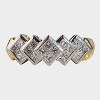 Vintage .70ctw Diamond 18K Gold & Platinum Ring