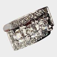 Vintage .82ctw Diamond Ring 14K White Gold