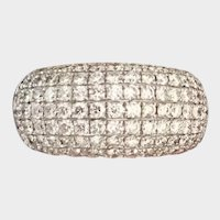 18K White Gold 2.2ctw Pave Diamond Cocktail Ring