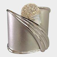 Erte Diamond 14K Gold & Sterling Tempest Cuff