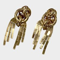 Vintage 18K Gold Fringe Earrings