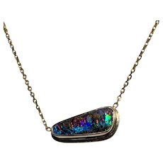 The Wild Thing Opal 14K Gold Pendant Necklace