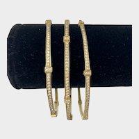 Judith Ripka 18K Yellow Gold Diamond Bangle