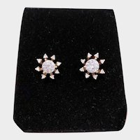 14K Gold .73ctw Diamond Studs with a Removable Jacket