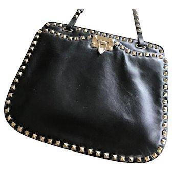 Valentino Garavani Rockstud Black Noir Shoulder Bag