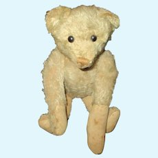 """13"""" Antique """"Much Loved"""" White Steiff Bear AS IS"""