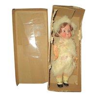 """8 1/2"""" Antique All Original Recknagel Googly Doll, Original Box"""
