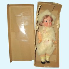 "8 1/2"" Antique All Original Recknagel Googly Doll, Original Box"
