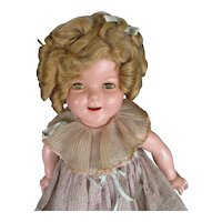 """22"""" Composition All Original Shirley Temple Doll Marked Head & Body"""