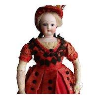 "12"" Antique French Fashion Doll All Original"