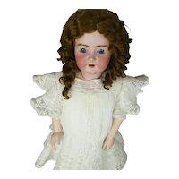 "36""+Heinrich Handwerck Doll All Orig Mkd Head, Body, Shoes, Extension Wig"