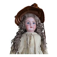 """34"""" Antique Simon & Halbig K * R Doll With Extension Wig"""