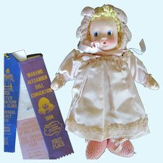 """12"""" Vintage Madame Alexander Little Shaver Baby Cloth Doll In Minty Condition, Ca. 1941"""