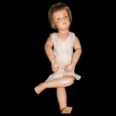 """15"""" Antique Schoenhut Pouty Doll Original Union Suit"""
