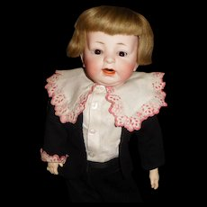 """18"""" Antique German Bisque Character Boy Doll"""