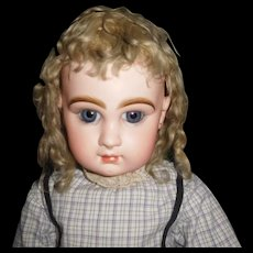 """31"""" Antique Beautiful & Perfect Closed Mouth Size 14 Jumeau Doll Mkd Head & Body, Applied Ears"""