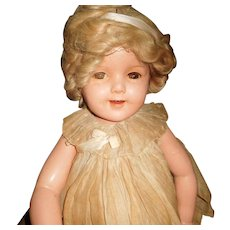 "26"" Shirley Tample Composition Doll By Ideal - Original Clothes Marked Head & Body  AS IS"