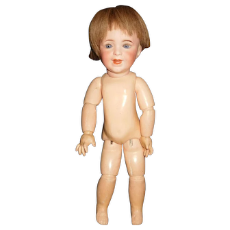 "15"" Antique SFBJ # 236 Character Doll With Marked Jumeau Body - Head AS IS"