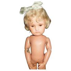 """16""""  Antique Sleep Eye Schoenhut Doll With Label"""