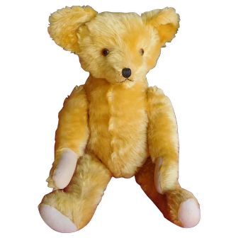 "28"" Antique Mohair Fully Jointed Teddy Bear"