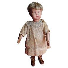 "11"" Antique Schoenhut Toddler Doll - All Original"