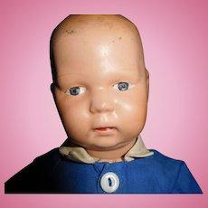 "13"" Antique Schoenhut Toddler Wood Doll"