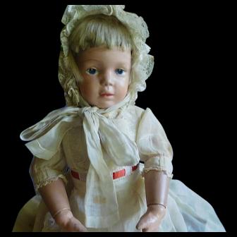"""16"""" All Original Wigged Schoenhut Girl Doll"""