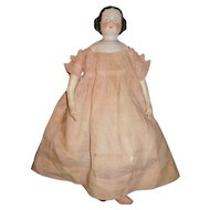 """22 1/2"""" Antique German Center Part  China Doll, Antique Body, Great Period Clothing"""