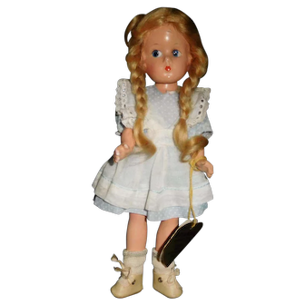 "9 1/2"" Vintage Composition Effanbee Doll All Original With Wrist Tag"