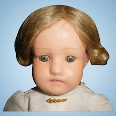"14"" Antique Sleep Eye Schoenhut Wood Doll"