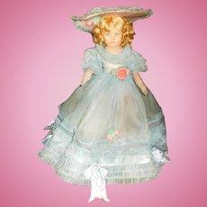 "18"" Antique Lenci Doll #300 Series All Original in Organdy"