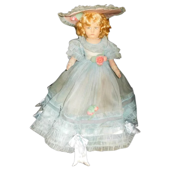"18"" Antique Lenci Doll #300 Series All Original in Organdy"
