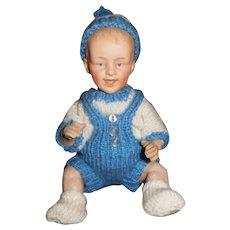 "8 1/2"" Antique Adorable Smiling Heubach Baby Doll"