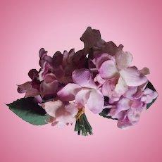 Vintage Variegated Silk Hat Flowers for Dolls