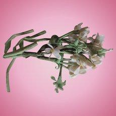 Vintage Silk Hat Flowers for Dolls