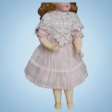 Cotton Dress With Fancy Collar for Antique Doll