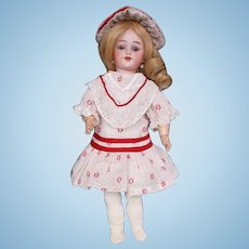 Two-Piece Dress and Hat for Antique Doll