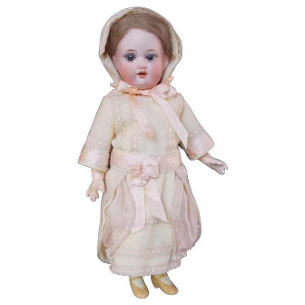 """Dress and Bonnet for 9"""" Antique Doll"""
