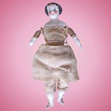 Antique Mid-Century 1800's China Head Doll