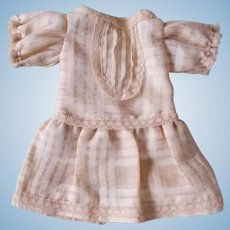 Cotton Print Dress for Antique Doll
