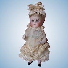 """5"""" Antique All Bisque Kestner Mignonette Doll"""