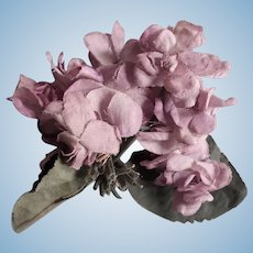Vintage Silk Variegated Flowers for Doll Hats